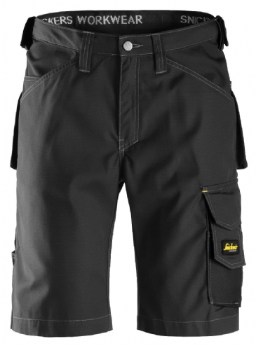 Snickers 3123 Ripstop Craftsmen Shorts (Black / Black)